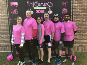 TradePMR employees at Pink Pumpkin charity event